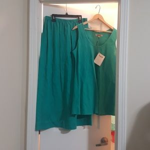 Flax Linen Skirt Set